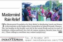 Indian Express - Chennai Floods Relief Service